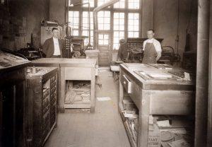 Bish Taylor at Print Shop