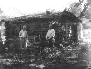 Howard Balsley & Bish Taylor at Balsley cabin