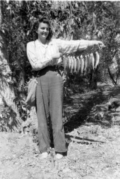 Carol Balsley Hines with fish