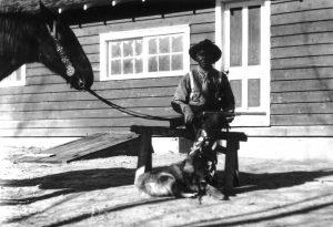Charlie Glass and dog