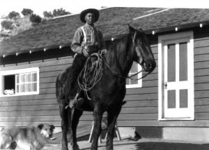 Charlie Glass with horse and dog