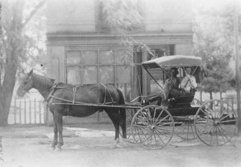 Maxwell Millinery Store with horse & buggy