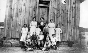 LaSal - First School with Students, 1909