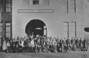 Moab - Central School with students 1