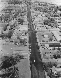 Main Street - aerial 1960s