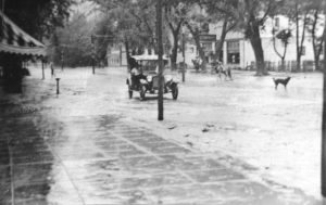 Main Street - flash flood with first Ford