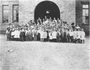 Moab - Central School with students 2
