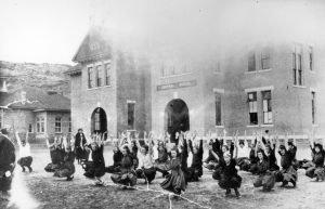 Moab - Gr. Co. High School Girls PE Class, 1917