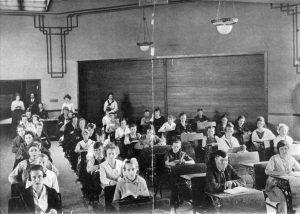 Moab - Gr. Co. High School interior 1918