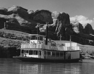The Canyon King riverboat, a short-lived tourist attraction run by Tex McClatchy. (Photo circa 1972.)