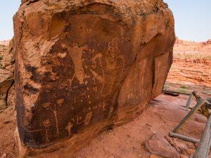 Birthing Rock petroglpyh panel. (Photo by Nathaniel Clark)