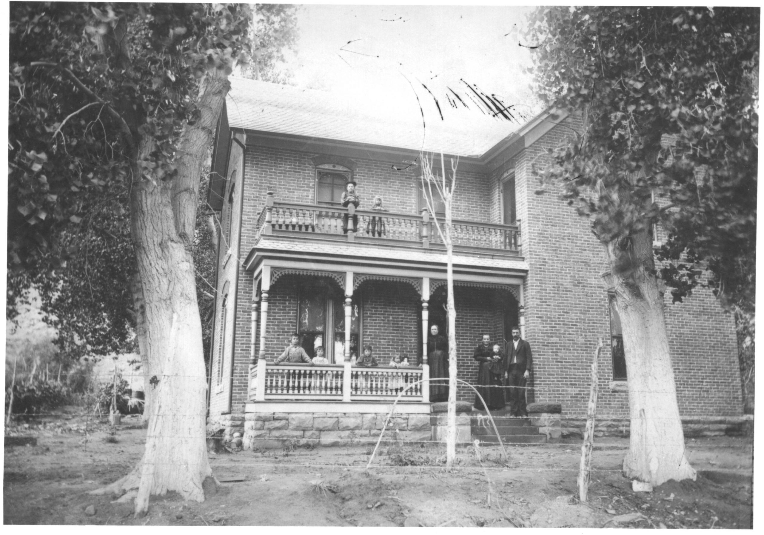 The historic Taylor homestead, now the Moab Springs Ranch.